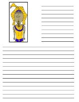 Ten Plagues of Egypt Pharaoh Printable Writing Paper