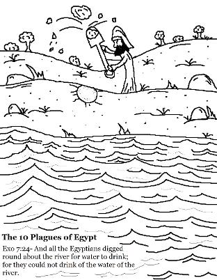 The 10 Plagues of Egypt Coloring Pages