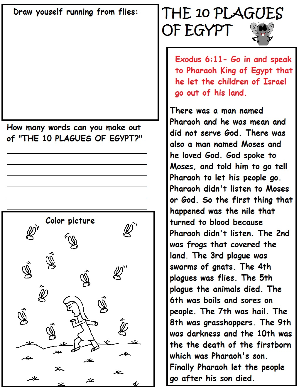 The 10 Plagues of Egypt Sunday