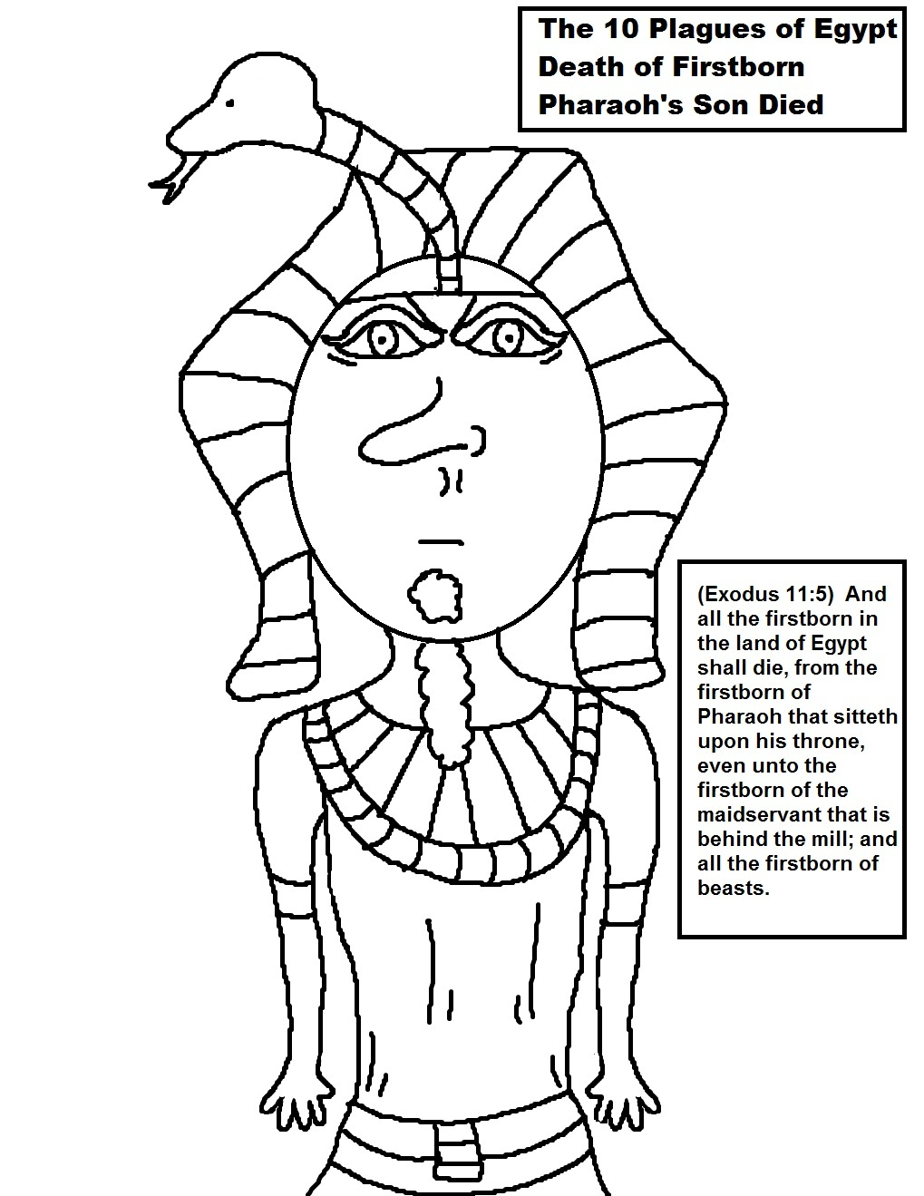 Egyptian Pharaoh Coloring Sheet Coloring Pages