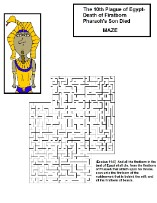 Ten Plagues of Egypt Pharaoh Maze
