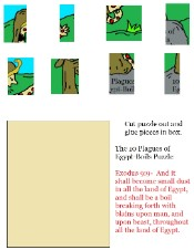 The 10 Plagues of Egypt Boils Puzzle Crafts