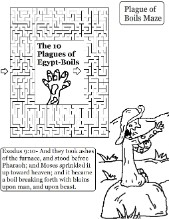 The 10 Plagues of Egypt Boil Mazes