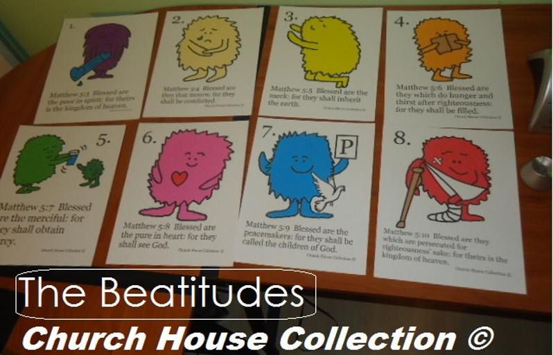The Beatitudes Cards Printable By Church House Collection
