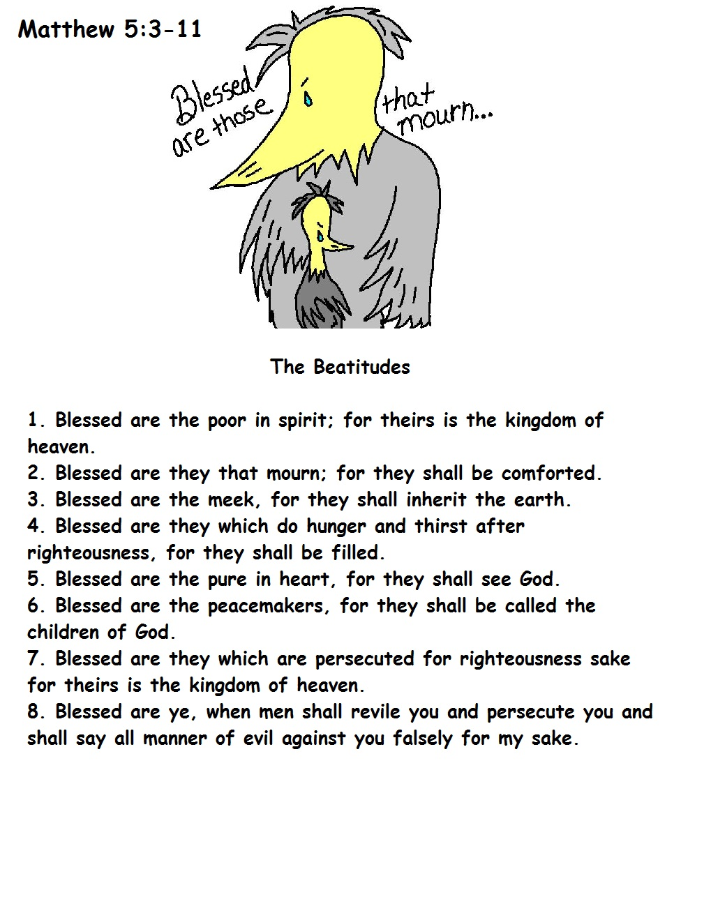 Free Beatitudes Crafts For Kids
