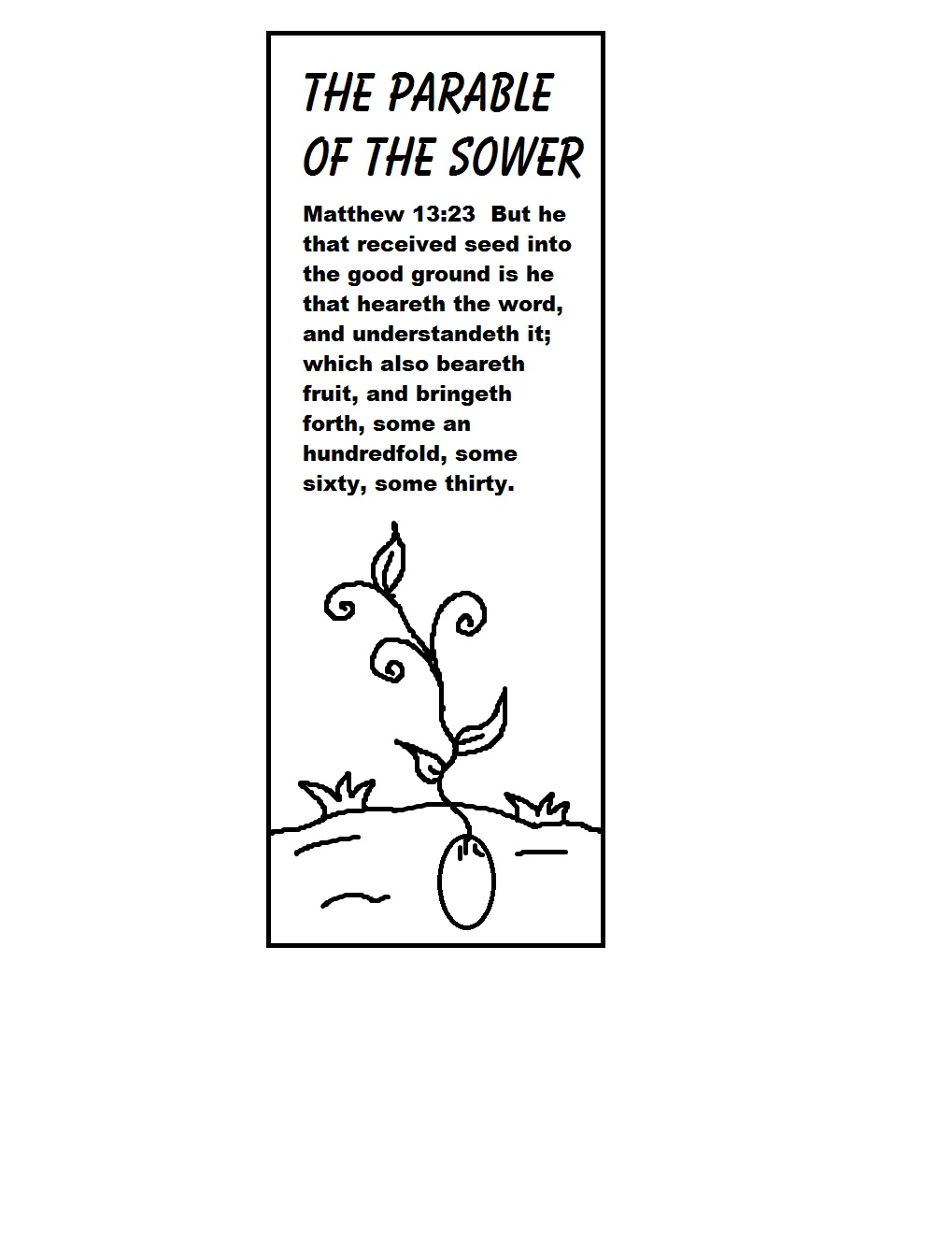 parable of the sower Parable of the sower this is the visual aids that i set up for this lesson i used 4 ziploc plastic containers and i added dirt in each.