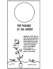 The parable of the sower doorknob hanger template