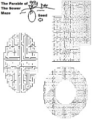 Parable of the sower printable maze activity sunday school