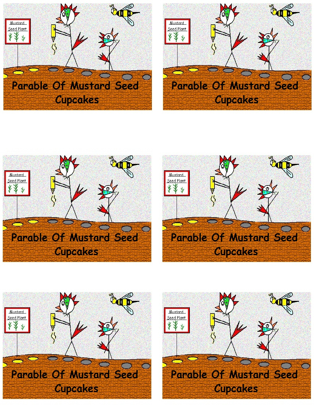 The Parable Of Mustard Seed Cupcake Template