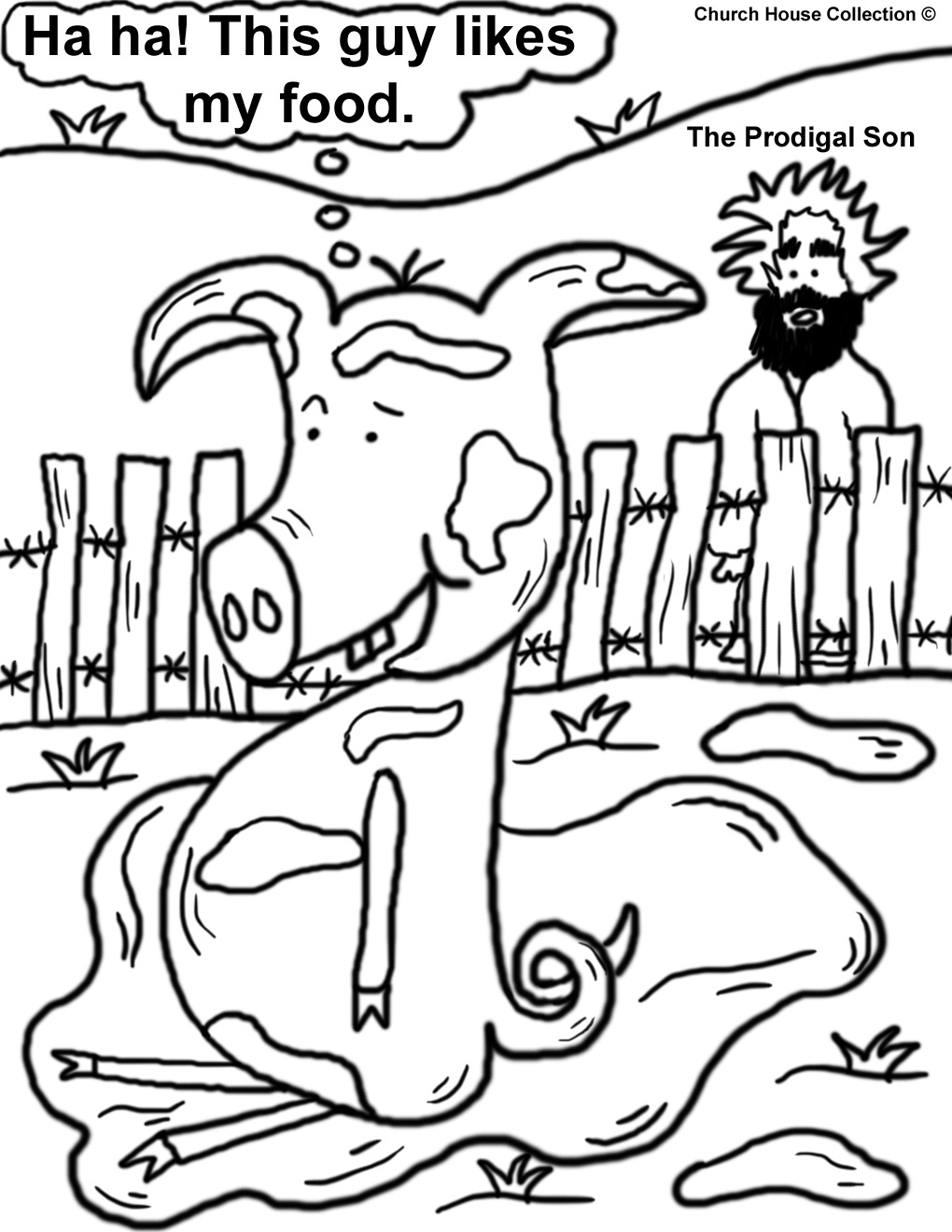 prodigal son coloring pages - the prodigal son coloring pages