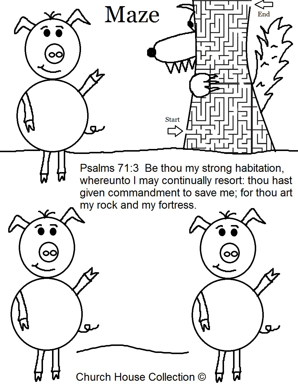 Three Little Pigs Coloring Pages House Of Sticks Apigramcom