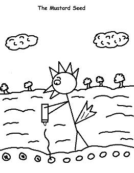 The Parable of the Mustard seed coloring page