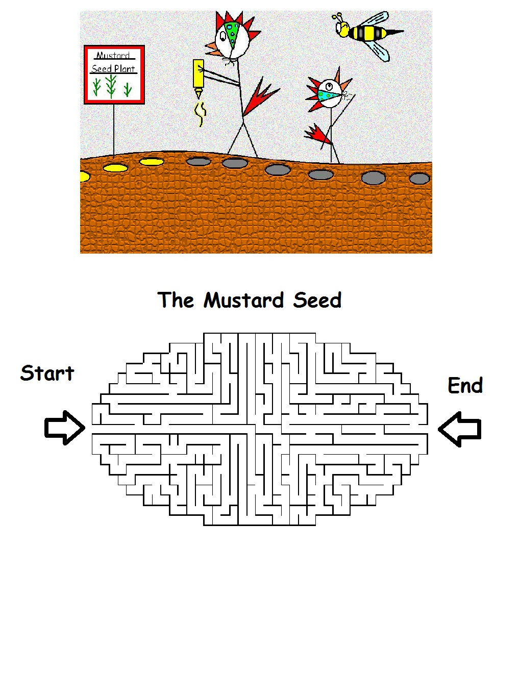 Mustard Seed Maze Printable Version