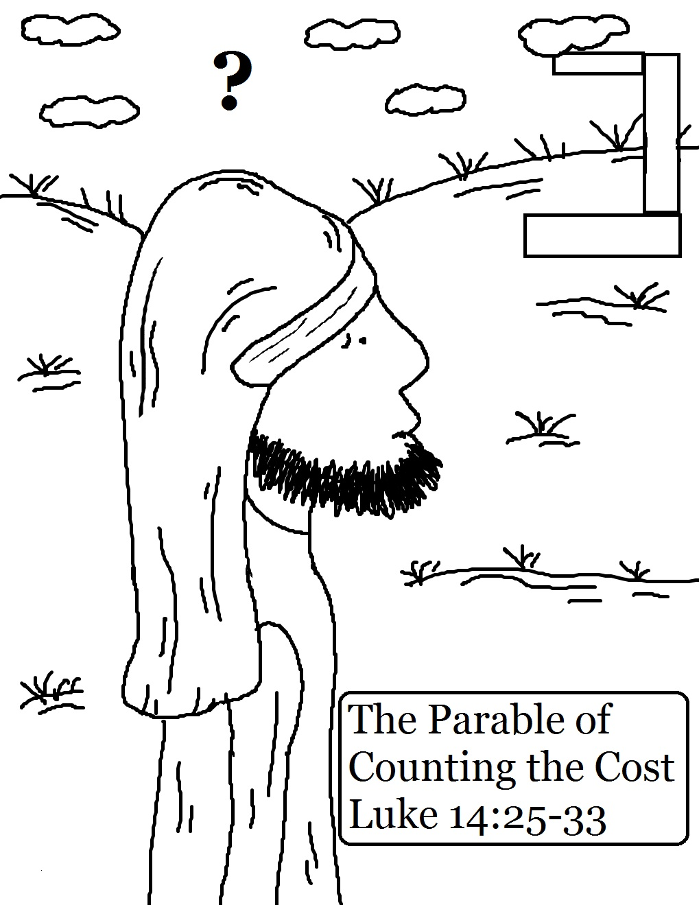 Page God Loves A Cheerful Giver The Parable Of Counting Cost Coloring Pages