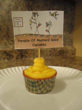 The parable of the mustard seed cupcake snack for kids for Sunday school