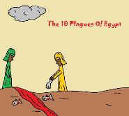 The Ten 10 Plagues of Egypt Sunday School Bible Coloring Pages