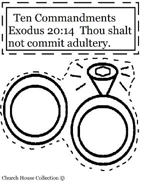 Thou shalt not commit adultery cut out craft for ten commandments