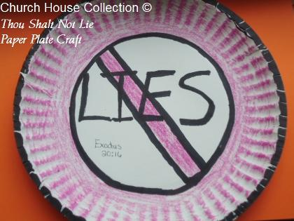 Thou Shalt Not Lie Paper Plate Craft for Ten Commandments