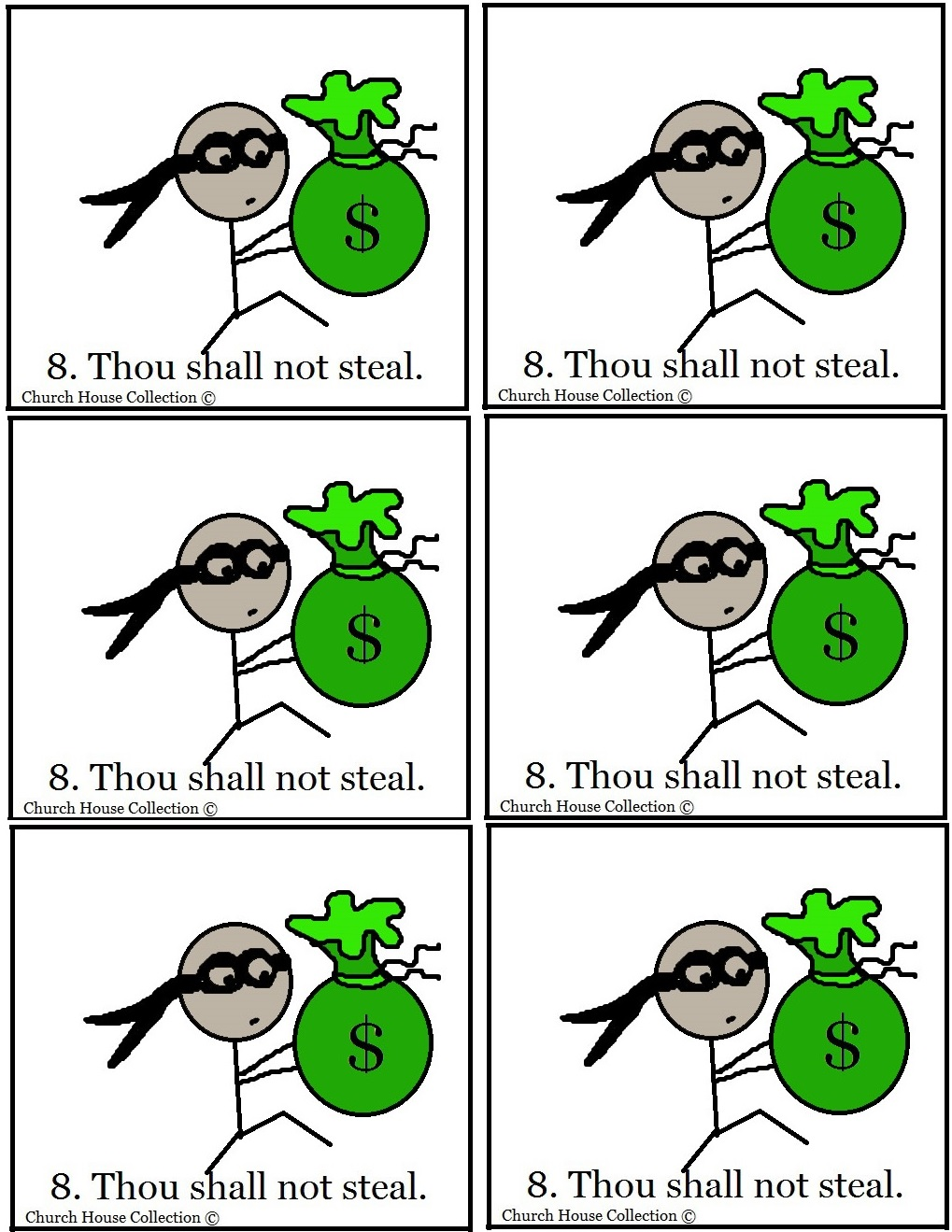 thou shalt not steal sunday lesson