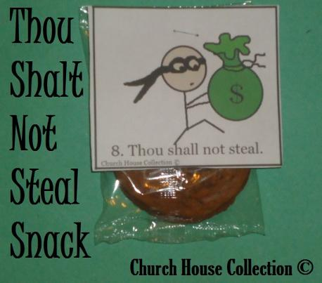 Thou shalt not steal sunday school snack idea