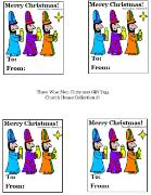 Three Wise Men Christmas Gift Tags
