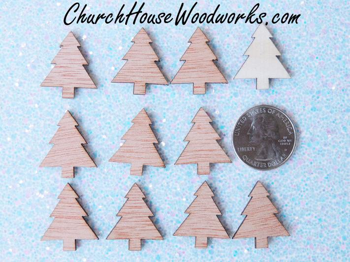 Mini Wood Christmas Trees For Christmas Crafts DIY Wreaths
