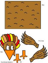 Free Thanksgiving Turkey Crafts for kids in Sunday school or children's church by Church House Collection- Free Printable Turkey Cutout crafts for Sunday school- Thanksgiving Turkey template and pattern