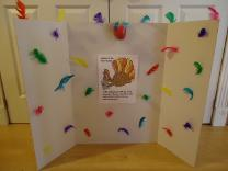 Thanksgiving Turkey Board Games for Sunday School or Children's Church Kids Ministry- Turkey Feathers Glued To A White Board- Turkey Thanksgiving Games for Kids