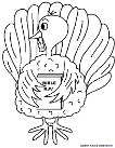 Turkey Holding Bible Thanksgiving Coloring Pages for Kids in Sunday school or Childrens Church