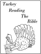 Turkey Reading The Bible Coloring Page Sunday School