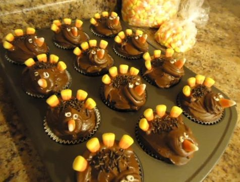 Turkey Thanksgiving Cupcakes For Kids Sunday school or children's church