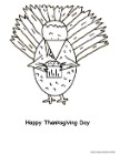 Turkey Coloring Pages, Turkey Eating Cupcake Coloring Page