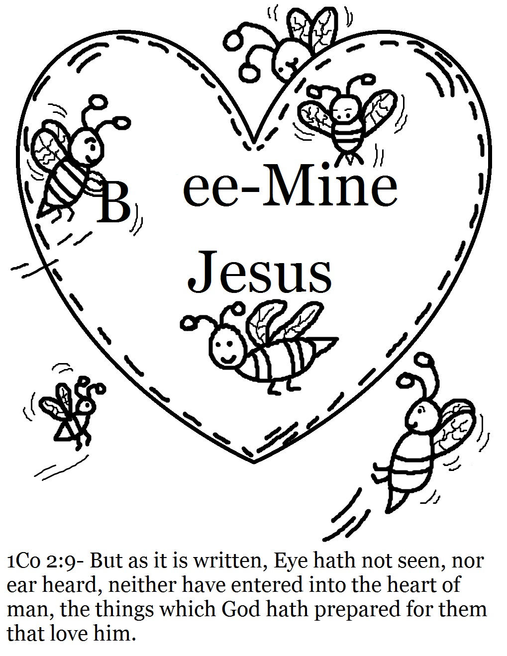 Childrens christian valentine coloring pages - Valentine s day coloring pages valentine bee s