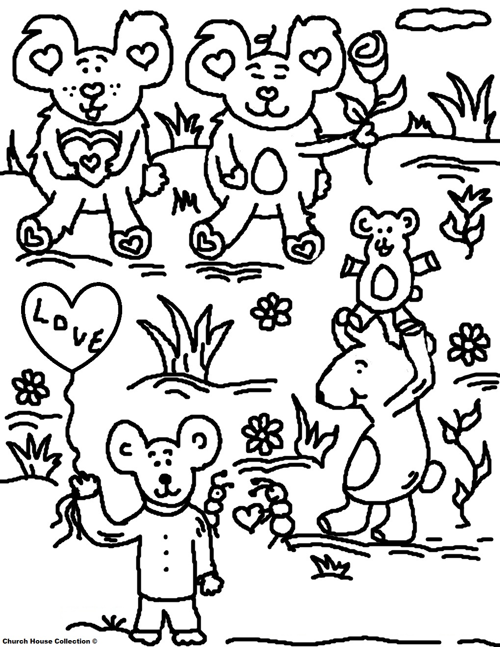 Valentine 39 s day coloring pages for school for Valentine bear coloring pages