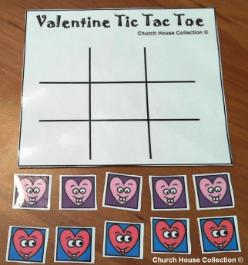 Valentine Tic Tac Toe Printable Game