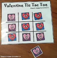 Valentine's Day Tic Tac Toe Game Printable Free for Kids