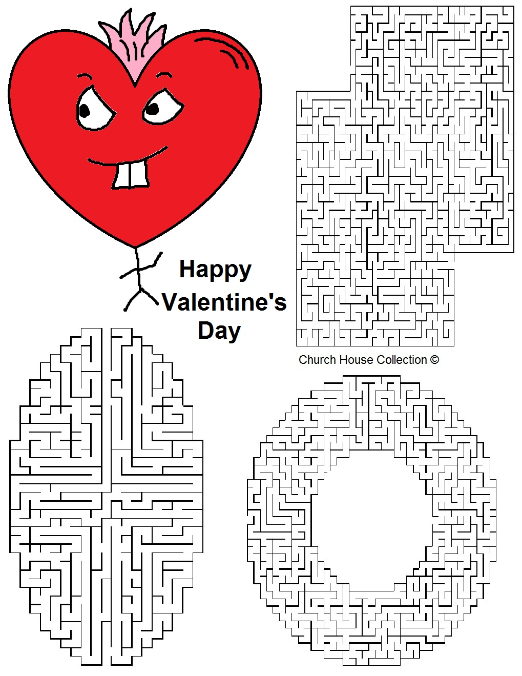 Happy Valentines Day Hearts Coloring Pages