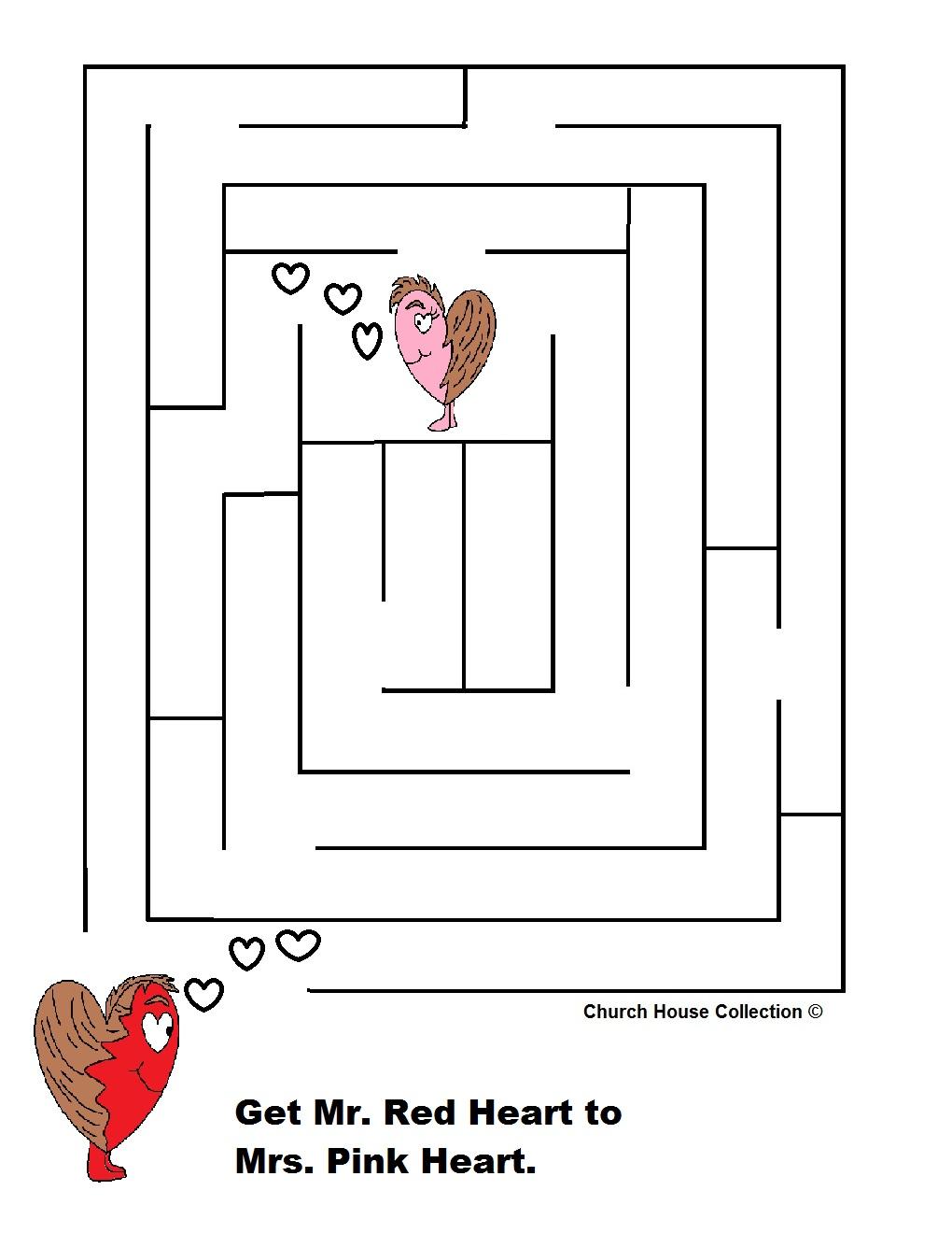 Uncategorized Valentine Mazes valentines day mazes for school hearts maze