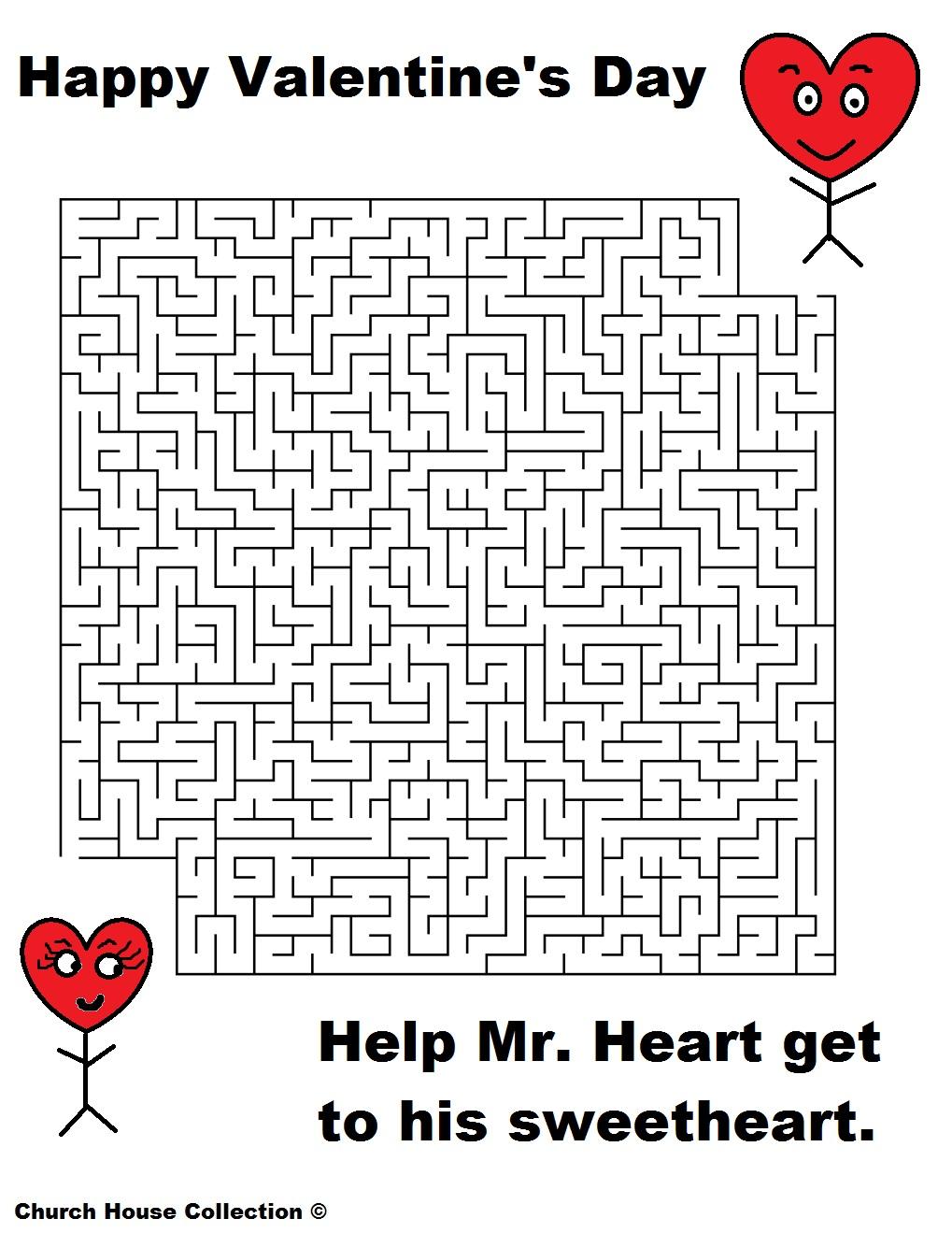 Uncategorized Valentine Mazes valentines day mazes for school two sweethearts