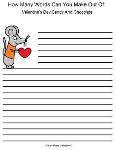 Valentine's Day Word Mining for Kids