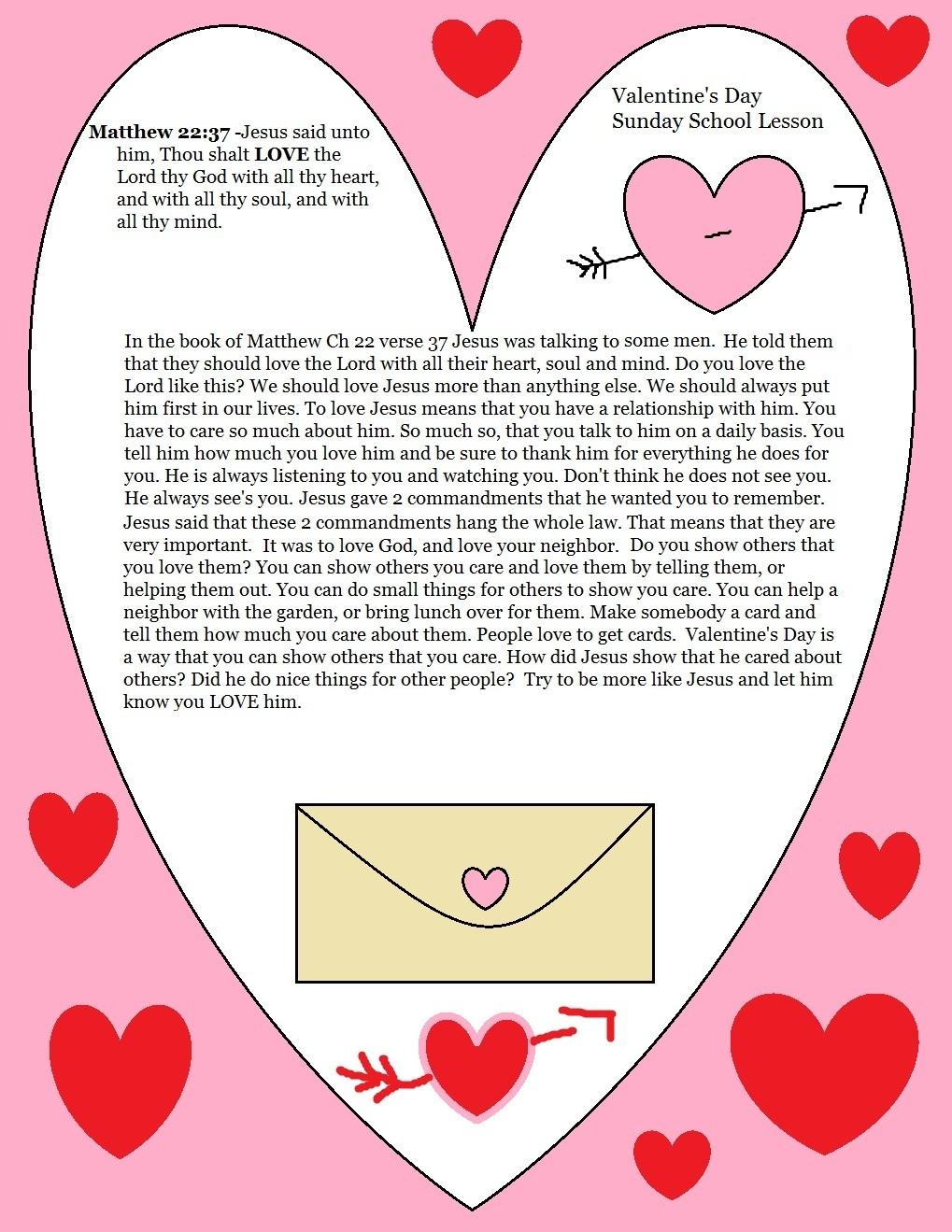 matthew 2237 kjv - Valentine Sunday School Lesson