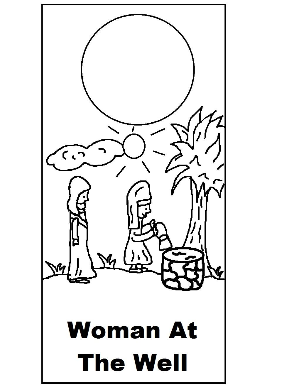 Samaritan Woman Coloring Page | Sermons4Kids | 1319x1019