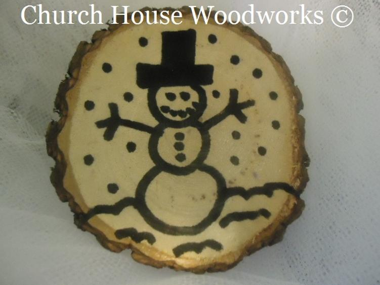 Unfinished Wood Christmas Ornaments for sale