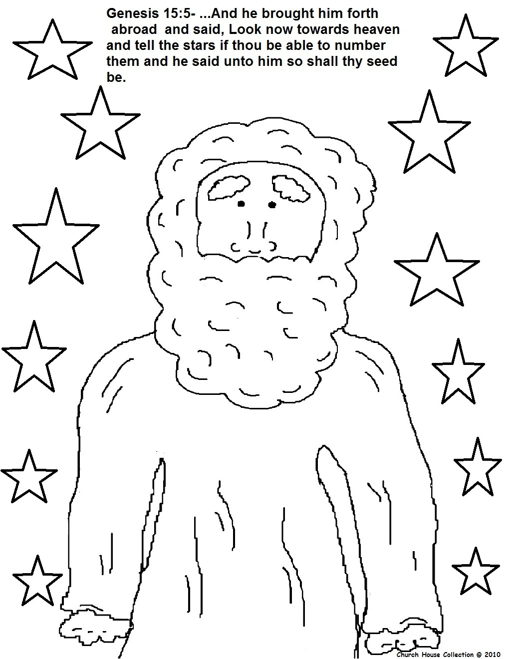 Abraham Coloring Pages Children Like Stars