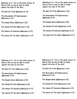 Armor of God Scripture Print Out