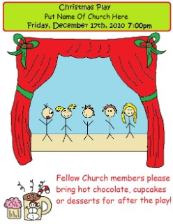 Free Printable Christmas Play Invitations