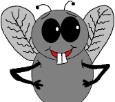 Fly Clipart- Animal Clipart