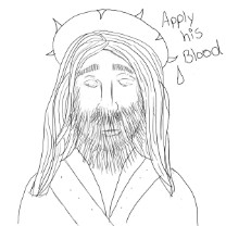 Jesus With Crown Of Thorns Clipart