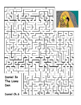 Daniel in the lions den maze