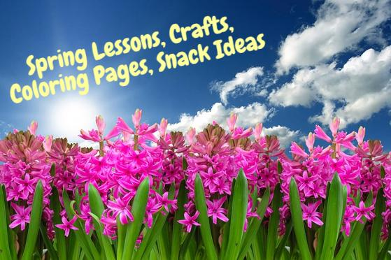 Spring Sunday School Lessons For Kids | Coloring Pages, Snack Ideas, Crafts